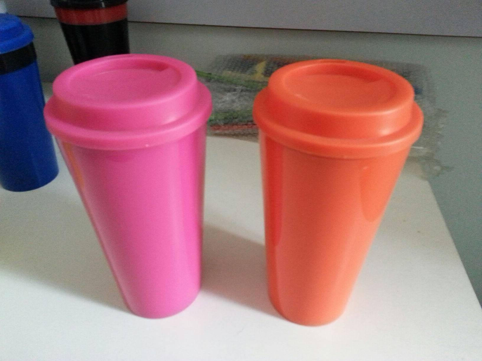 BPA FREE 5% discount PP beverage mugs/cups with lid
