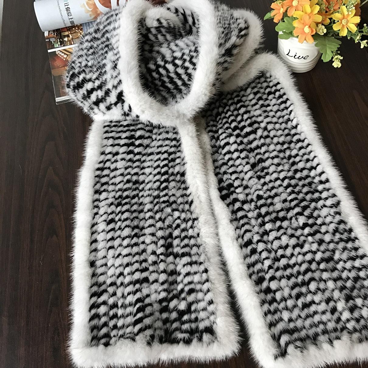 Mink Fur Scarf made by European quality mink fur