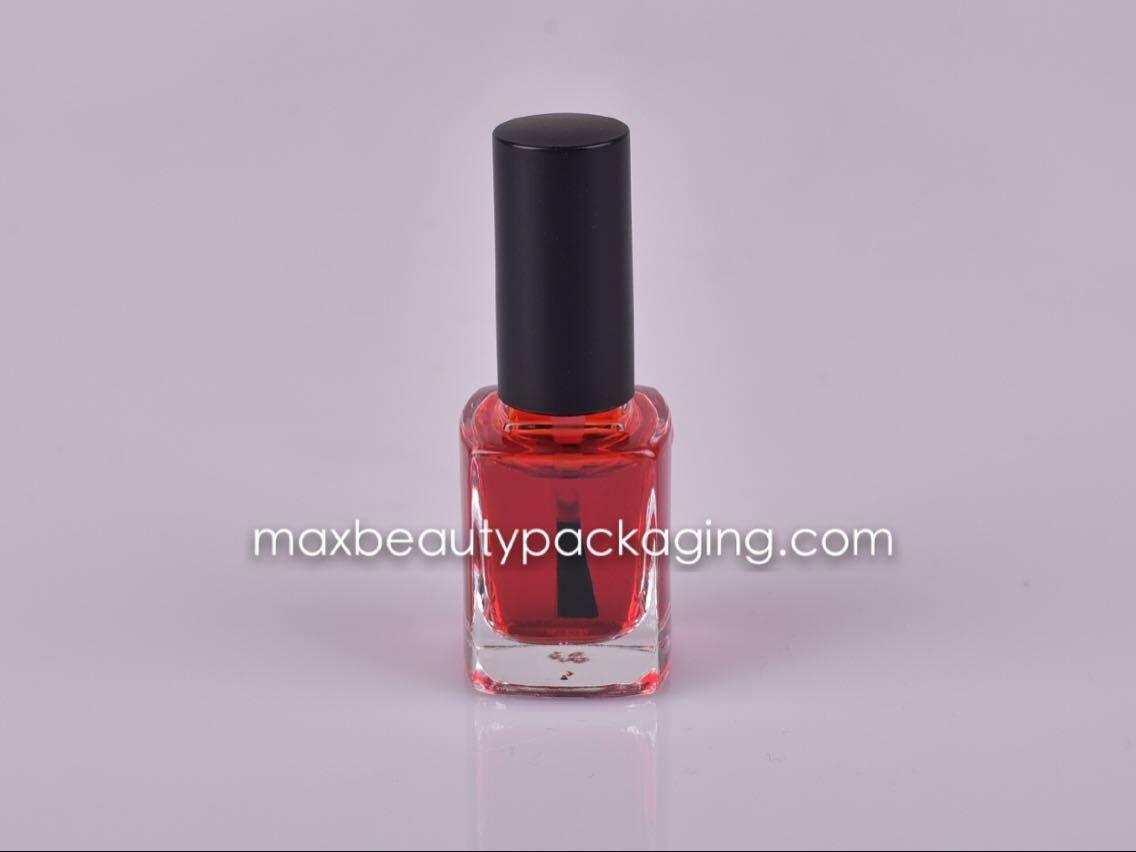 NP021 UV matte black Nail Polish cap flat nail polish bottle flat brush nail polish packaging