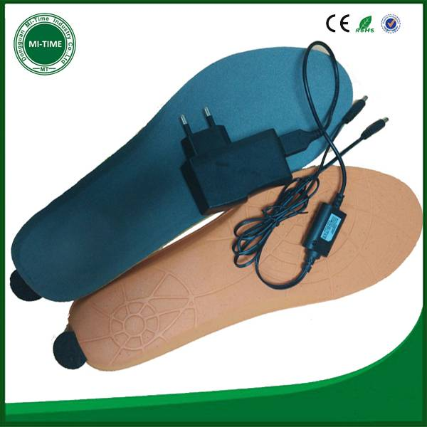 mobile bluetooth battery chargeable shoe insole, warm heated insole factory