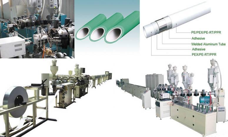 PE Aluminum PE pipe production line
