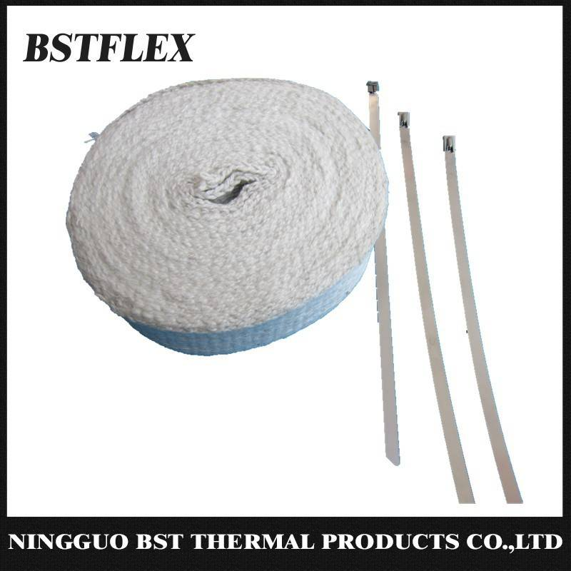 Ceramic Fiber Exhaust Wrap Header thermal bandage