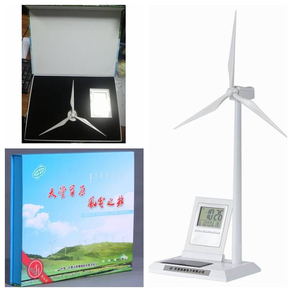 Multifunction Solar Wind Turbine Model with Digital Calendar