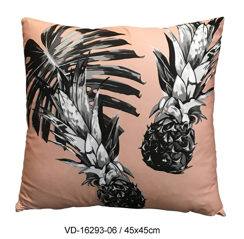 Pillow Cushion Decorative Fashion Home Accessories, Tropical Pineapple Design in Pink