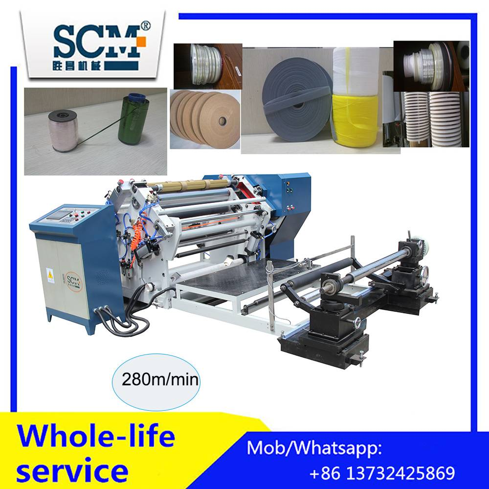 Fully automatic slitter and rewinder machine