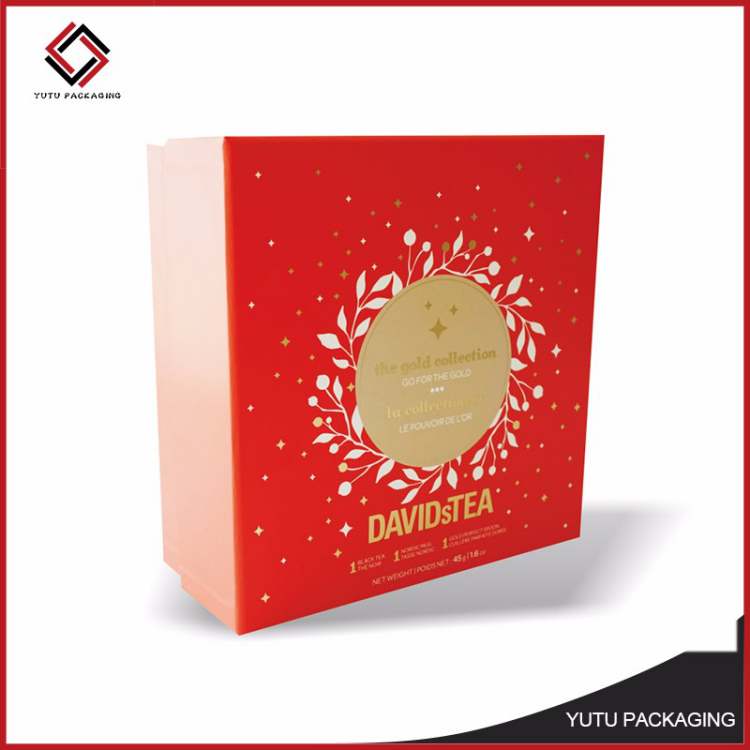 Custom logo color printing paper box with lid