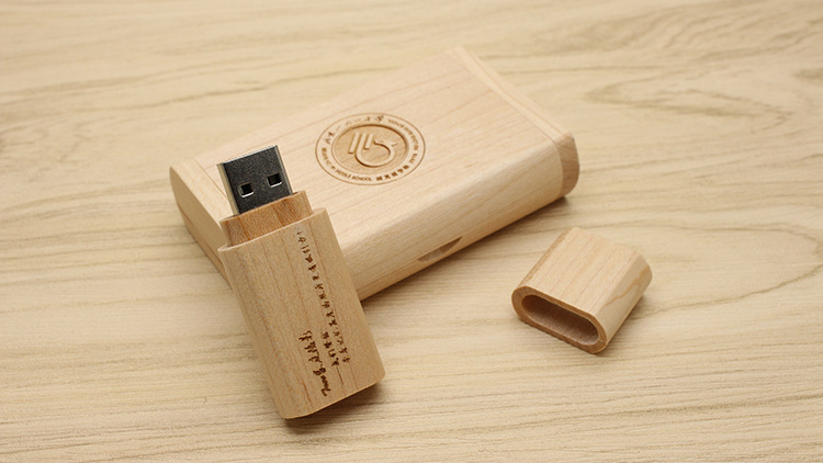 CaraUSB Wood raised cap type usb disk maple eco gift thumb drives