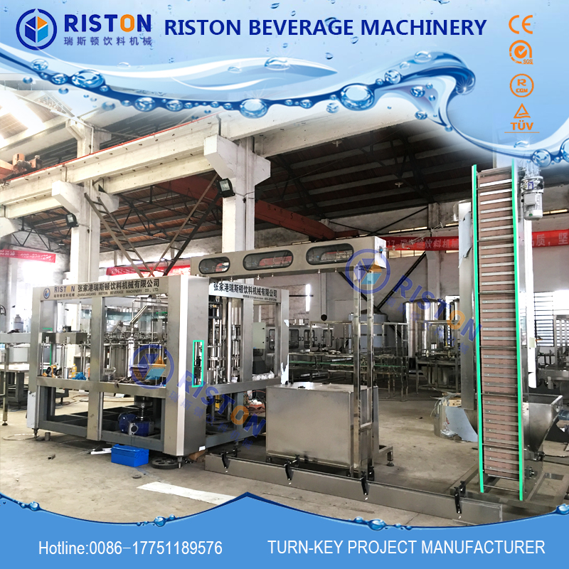 Bottled water filling machine with high speed turnkey project