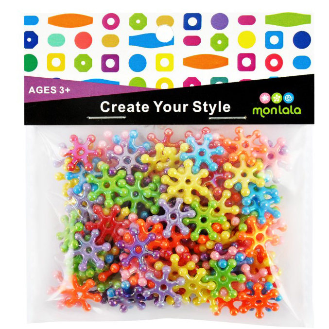 snowflake beads acrylic beads AB beads mixed assortment for kids diy