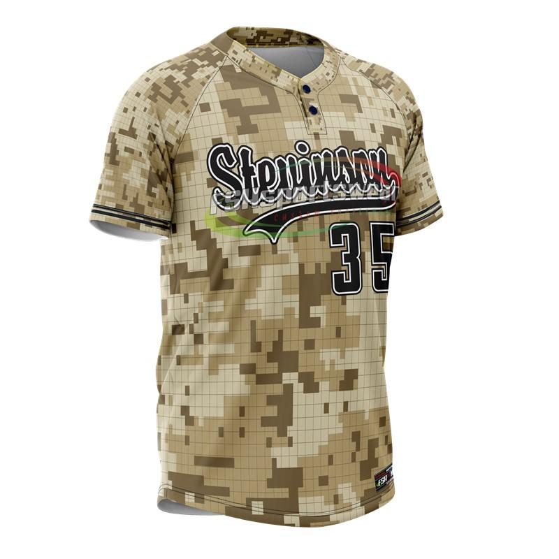 Cutom digital camo baseball jersey sublimated baseball jersey