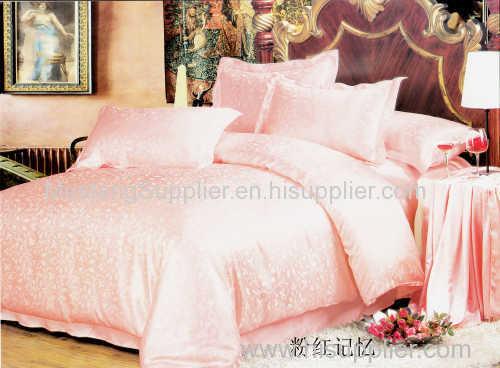 2018 New Genuine 100% Silk Bedding sets-Pink and Purple Memories