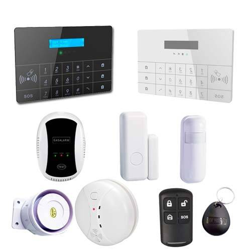 Intelligient GSM home security alarm system with LCD display