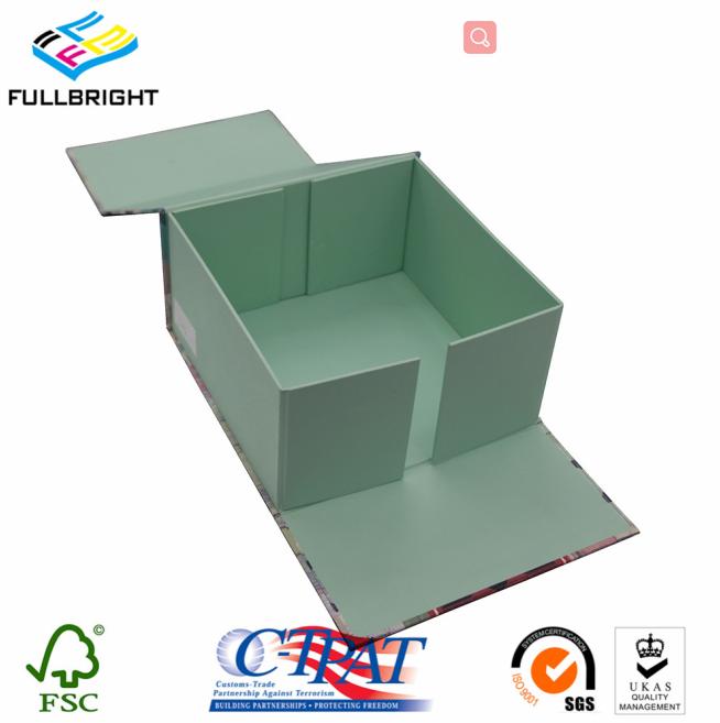 Customized cardboard book shape gift folding magnetic flap box wholesale