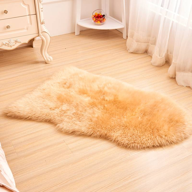 Eco-Tanning Sheep Skin Shaggy Fur Baby Rug