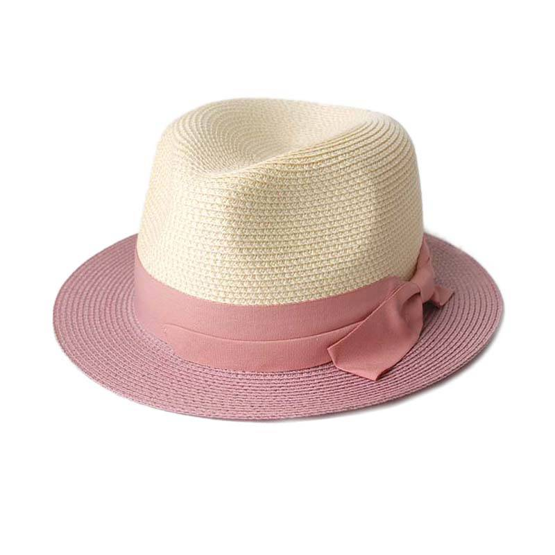 woman fashion summer outdoor sun-protect straw hat