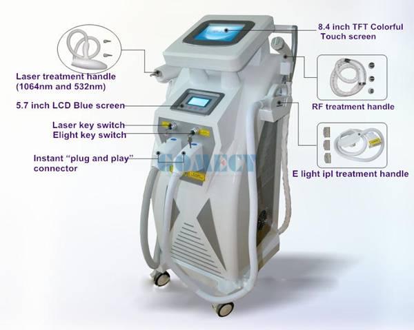 OPT+IPL+ELIGHT+RF+ND YAG LASER 4 in 1 multifunctional machine