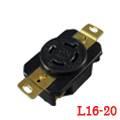 LK-2424F NEMA L16-20R Locking Receptacle