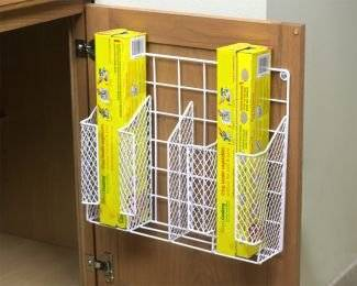 Wrap Organizer, 4 Stations Mesh Door Mount Wrap Storage