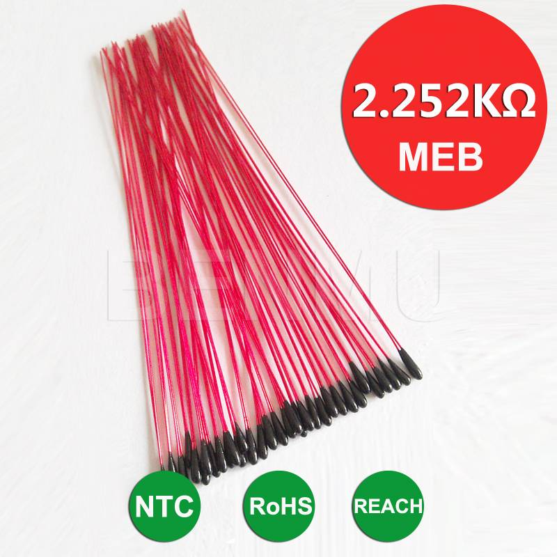 MEB 2.252K 1% 3950 70mm Epoxy resin encapsulation NTC Thermistor thermal resistor for temperature se