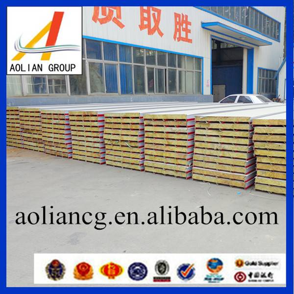 Excellent fire-resistance RW rock wool sandwich panel