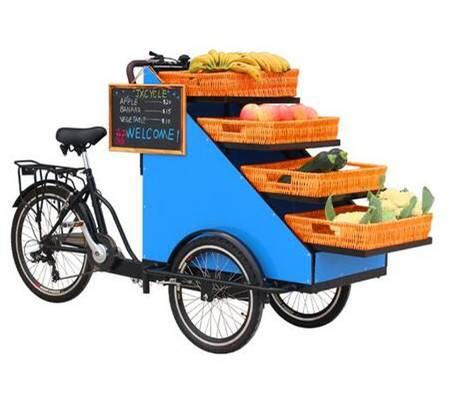 street vending trike cart retail bike for flowers vegetables fruits