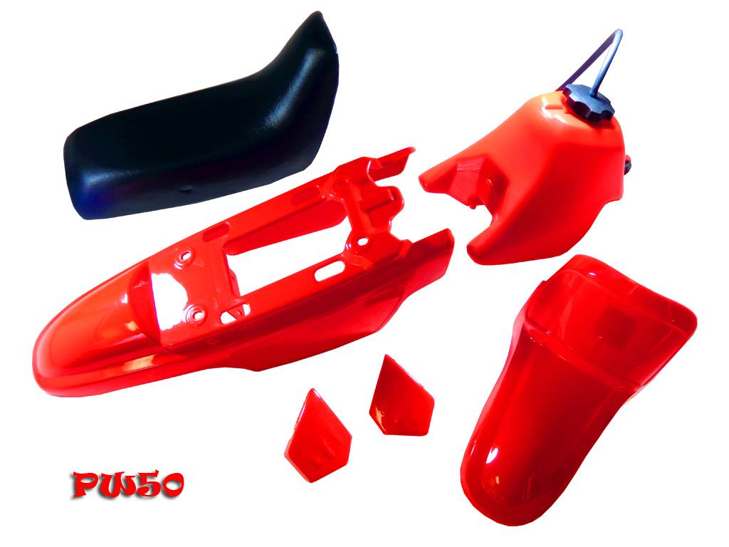 Yamaha PW50 PY50 PW 50 Plastic Fender Body Seat Gas Tank Kit