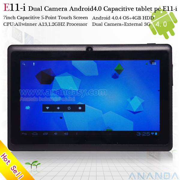 7inch Android 4.0 Dual Camera Capacitive Tablet PC/MID/UMPC/Laptop E11-i