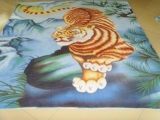 Polar Fleece Fabric Animal Panel Printed Tiger