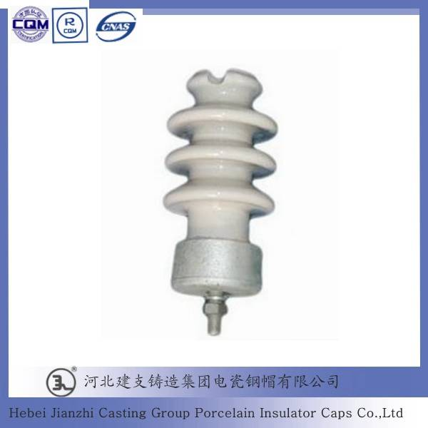 Porcelain Line Post Insulator cast iron fittings for High Voltage