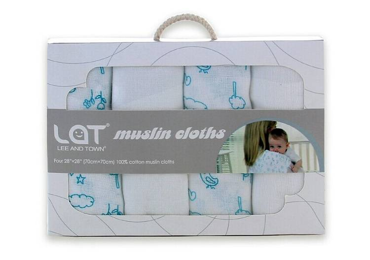 LAT Free Shipping 100% Cotton Muslin Baby Diapers Multifunction Baby Nappy