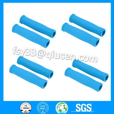 custom made  rubber silicone lifting handle rubber girps for weight liftings barbell grips sets weig