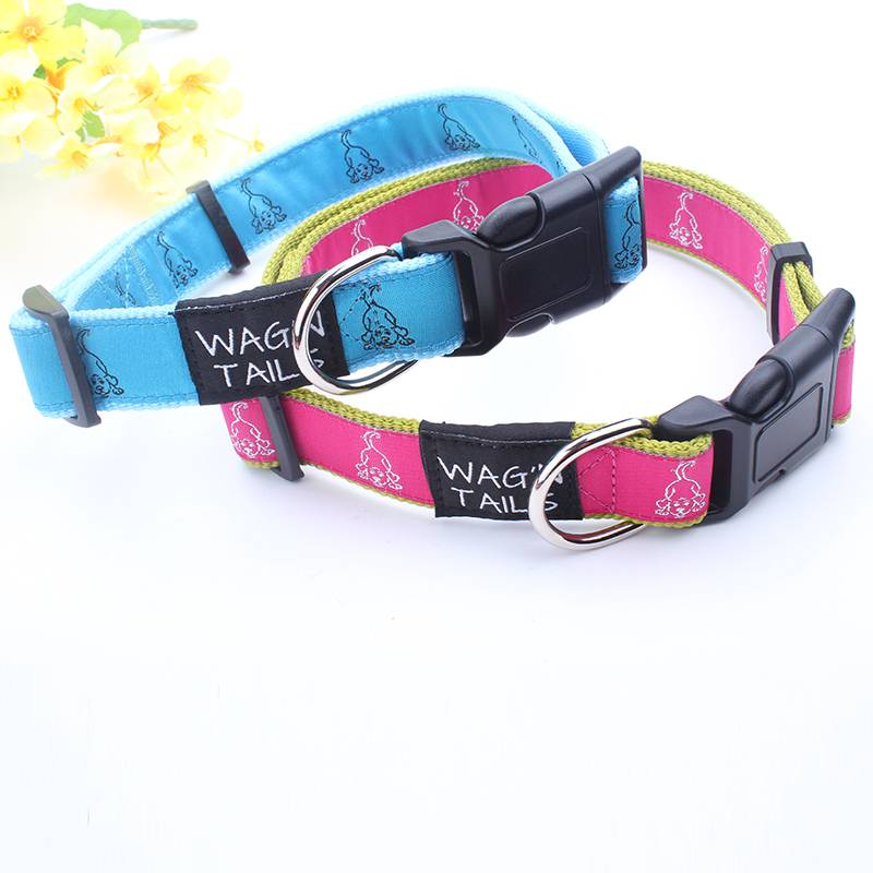 Eco-Friendly Feature and Durable Wholesale Pet Collar with Woven Label