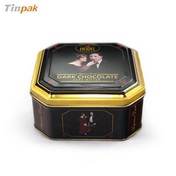 high-end octagonal chocolate tin box
