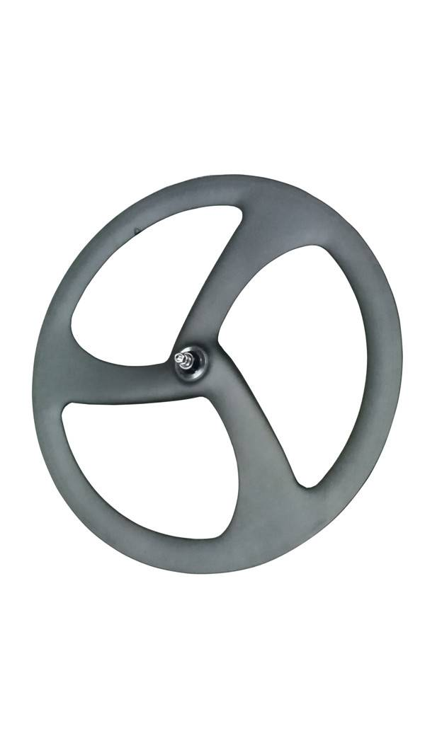 cheap factory clincher carbon trispoke wheel for 700c racing bicycle