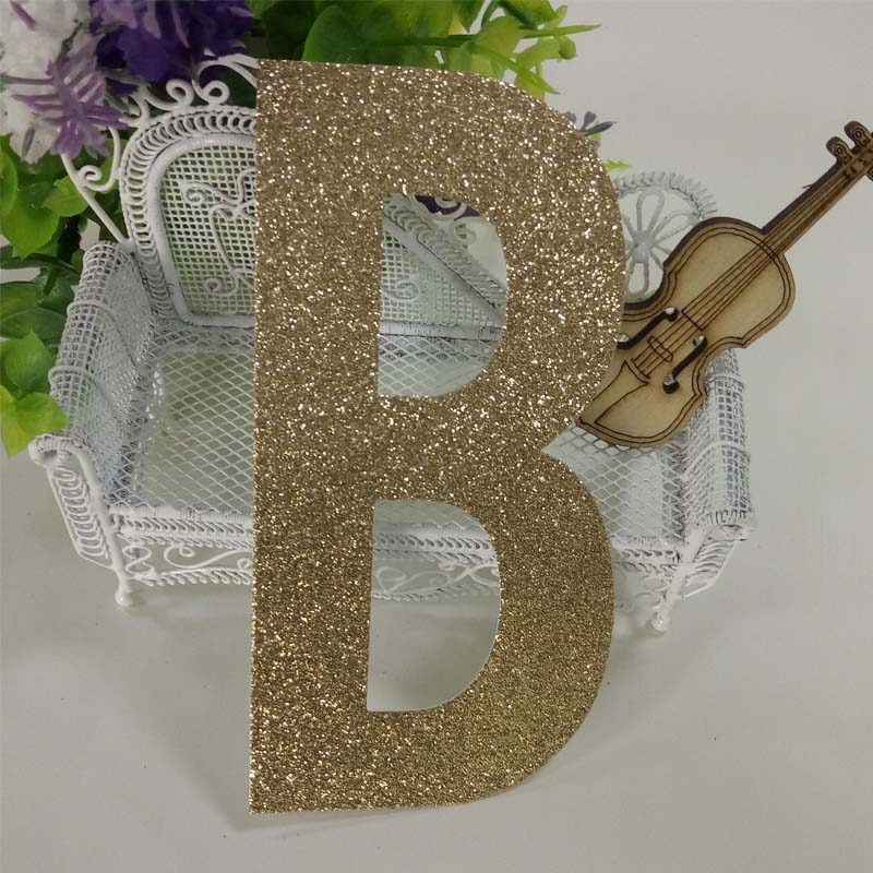 Christmas decor gold glitter paper letter paper crafting