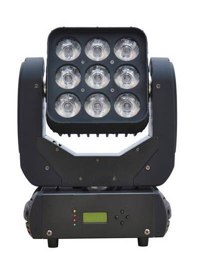 4in1 RGBW 3*3 Pixel Matrix 9pcs 12w LED Mini Beam Moving Head Light