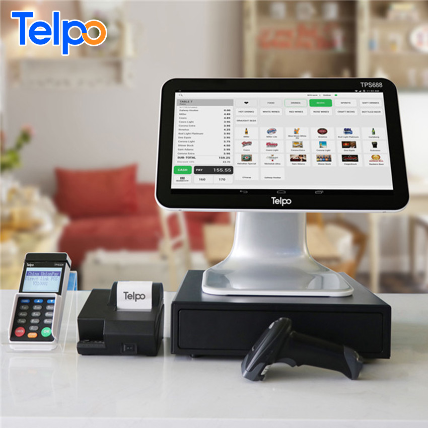 Telpo TPS688 lottery modern business computerized android pos cash register