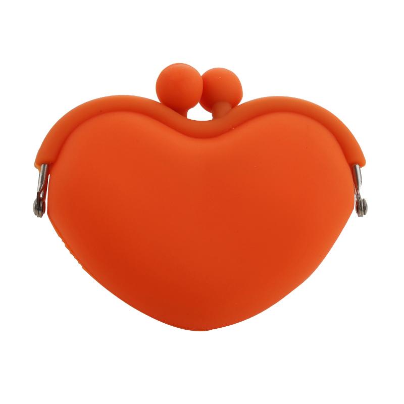 orange coin silicone wallet