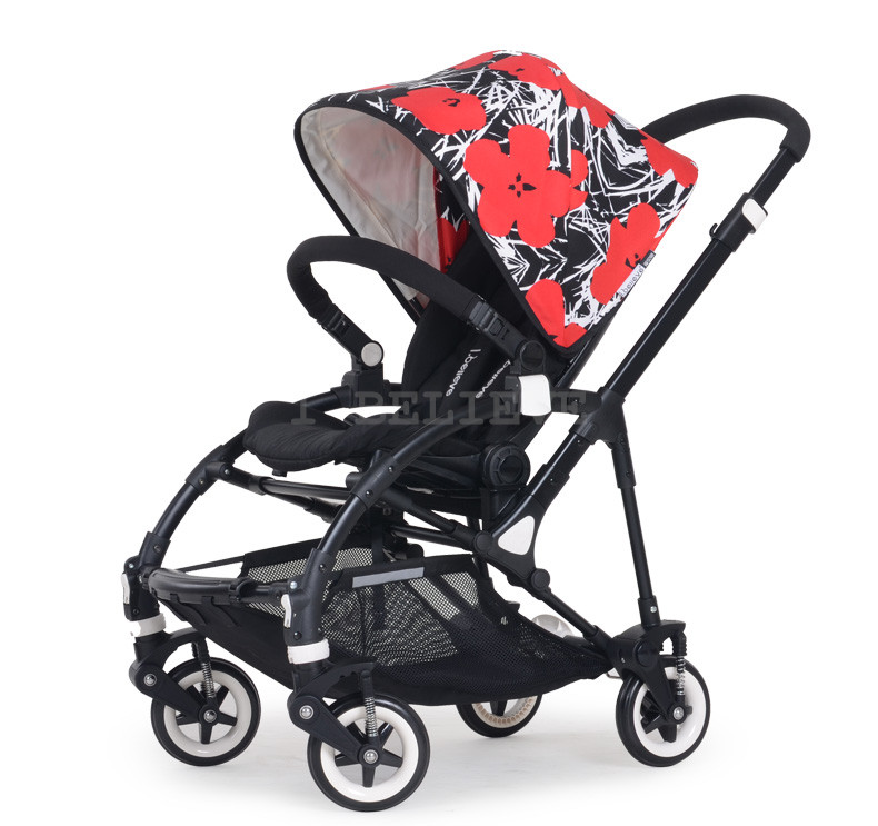 Mom's good helper multicolor Foldable pram Aluminum Baby Strollers with Black frame