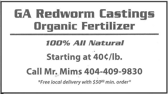 Ga Red Worm Castings