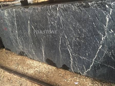 Fossil Black Marble Block