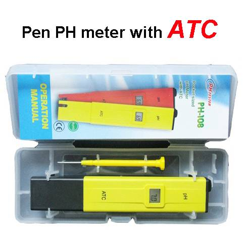 PH-108 PH-009II portable Pen PH tester meter with ATC
