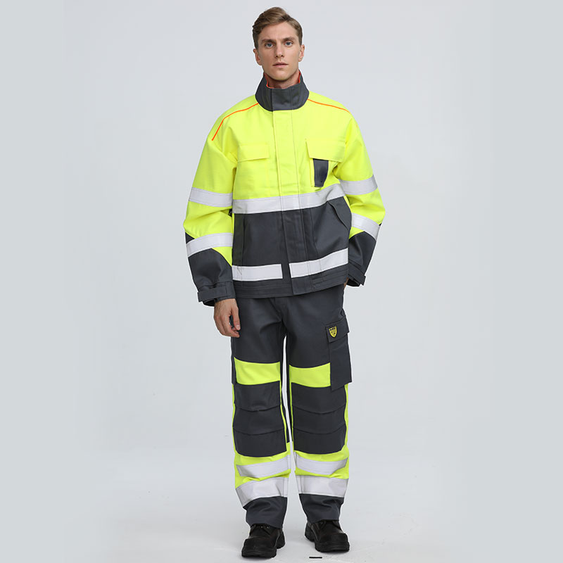 Customizable long sleeve cotton C/N protective work flame resistant suit
