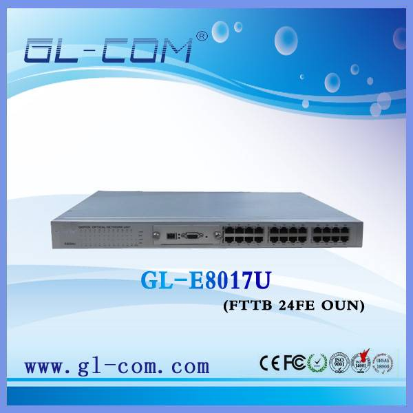 EPON FTTX FTTB ONU 24FE MDU ONU 100Mbps for IPTV