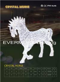 motif light  crystal horse