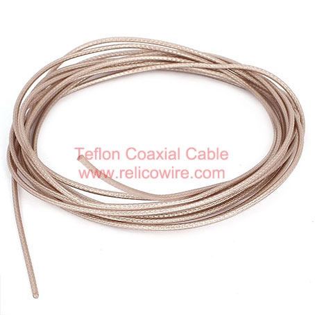 Solid PTFE Insulation, FEP Jacket RF Coaxial Cable