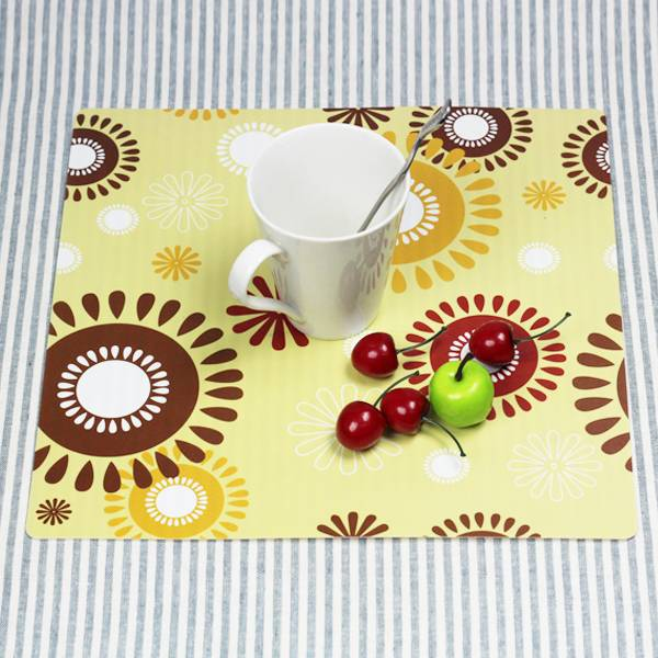 PP plastic,43x29cm plastic placemat,custom printing 3d placemats with high quality