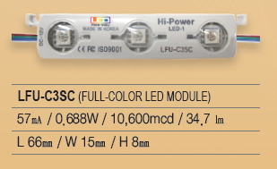 LED Module, 3P Series, LFU-C3SC(FULL COLOR)