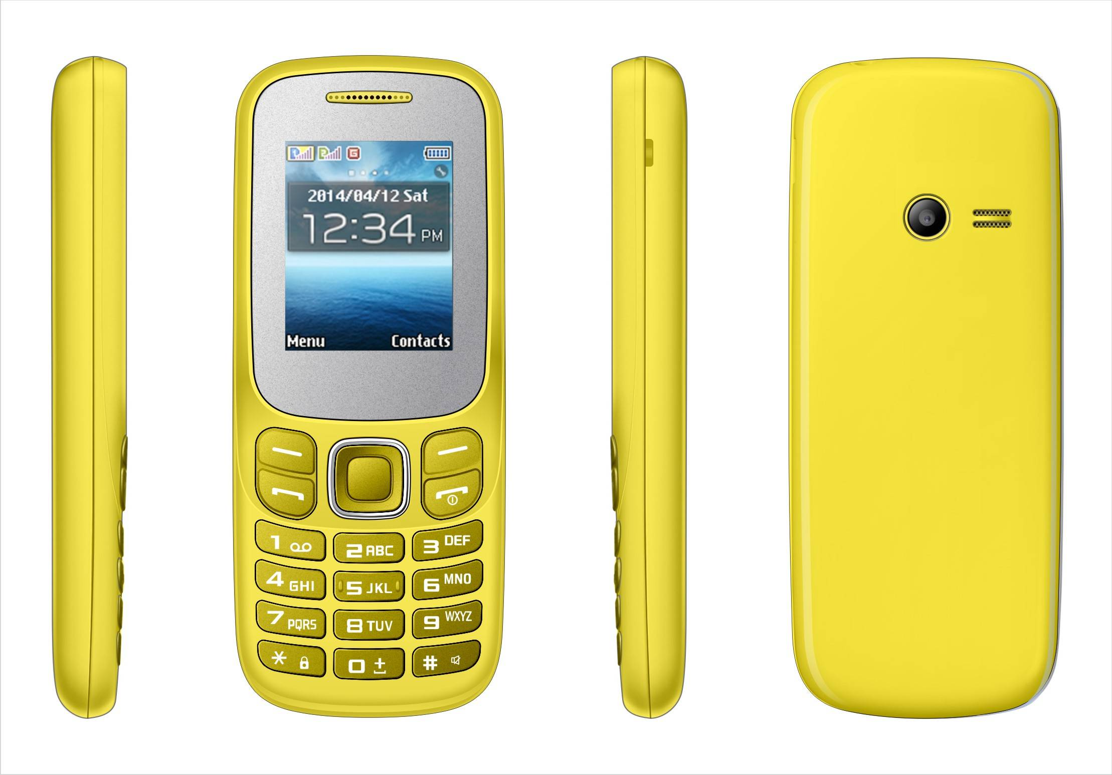 K208 low end 1.8 inch mobile phone dual sim card feature phone Bluetooth/FM Radio/GPRS/T-Flash Card