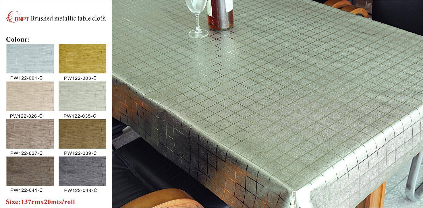 Brushed Metallic Table Cloth
